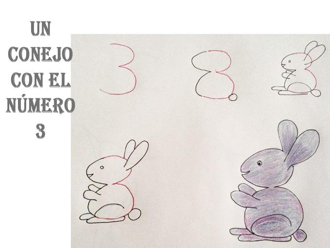 Aprender A Dibujar Animales Con Números Un Conejito