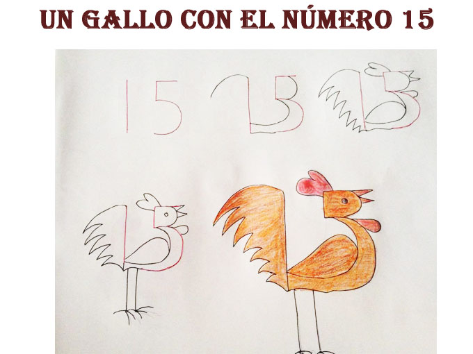 Aprender a dibujar animales con números - Un gallo