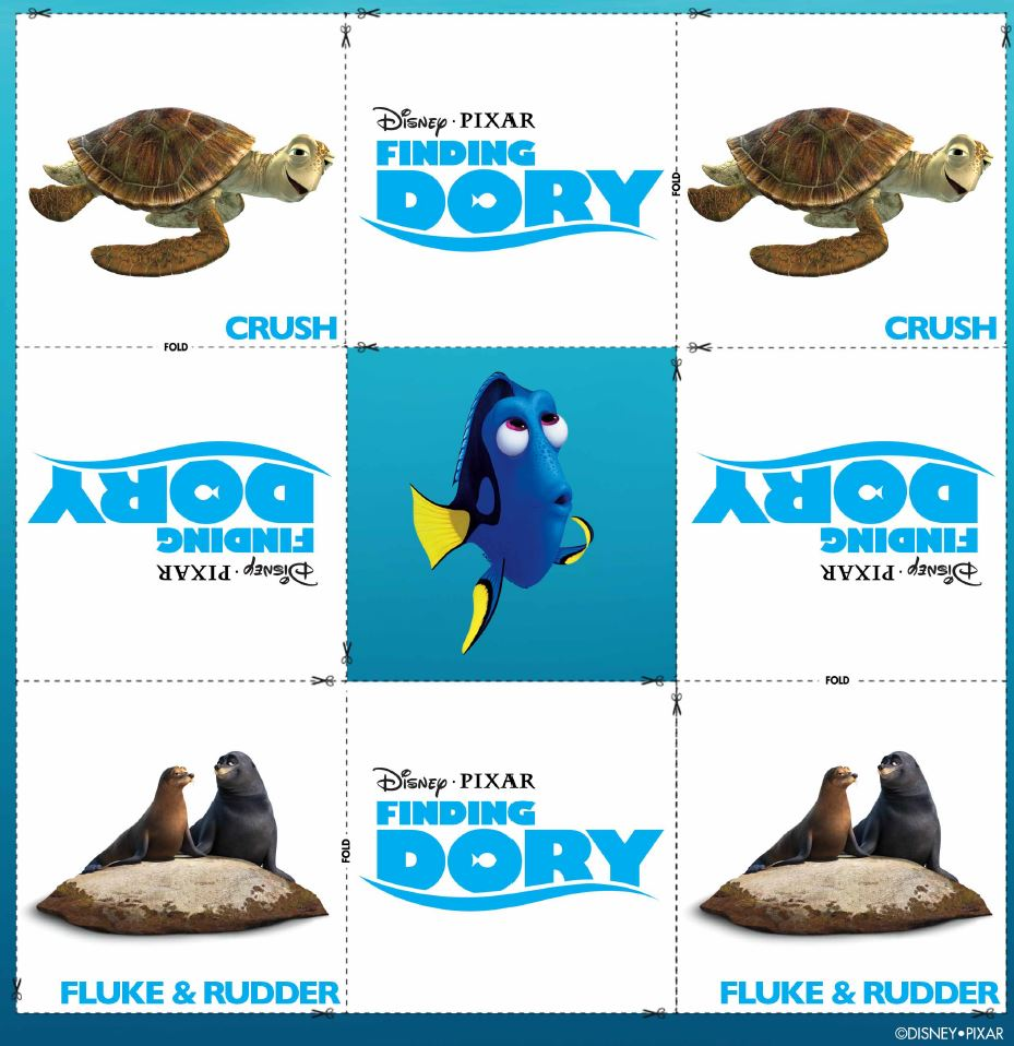 Buscando a Dory: Memory Cards Crush y Fluke & Rudder