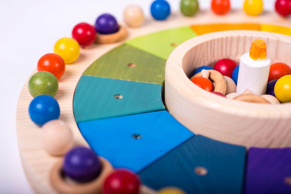 Calendario Montessori.Juguetes De Madera Para Bebes Y Ninos Calendario Montessori