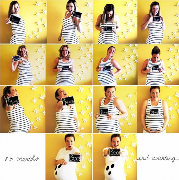 d6bcd0799 10 formas creativas de fotografiar tu embarazo - Elige un fondo llamativo