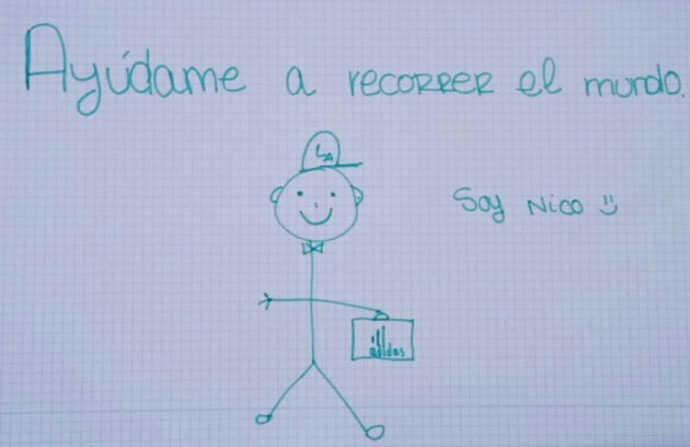 Lo que esconde el dibujo de Nico enviado por whatsapp